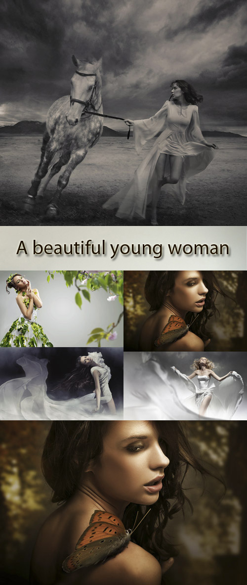 Stock Images: A beautiful young woman 7