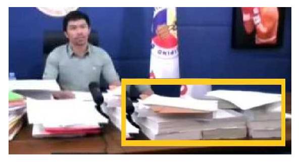 Mga Hawak na Dokumento ni Pacquiao, Props lang ayon sa Writer!