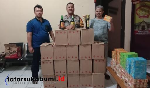Ratusan Miras, Lem Aibon dan Komik Diamankan Polsek Kebonpedes Sukabumi
