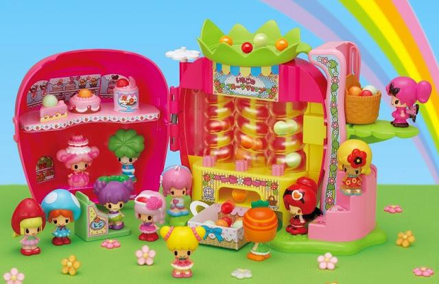 Cửa hàng dâu tây Koeda-chan khi mở ra với rất nhiều bánh ngọt