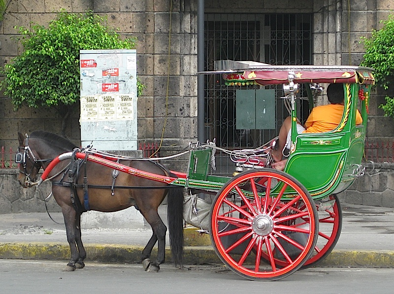 kalesa waiting in front of the Binondo Church