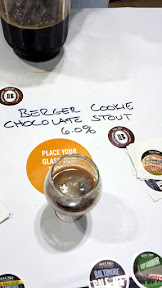 Tip for remembering beers you tried - take a photo! Here a taste of Berger Cookie Chocolate Stout