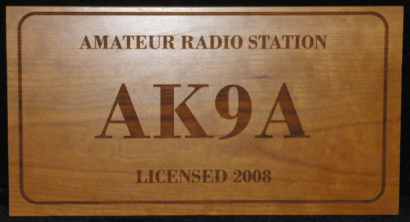 Large Laser Engraved Call Sign Wall Plaque