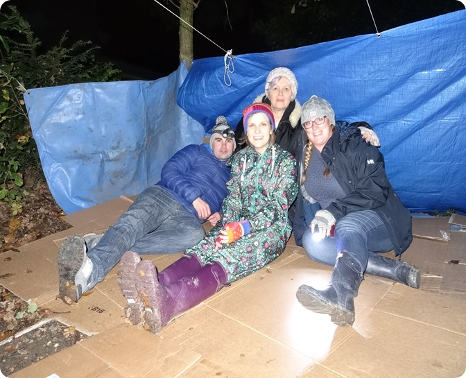 Social Workers from Cheshire East build a shelter (3)