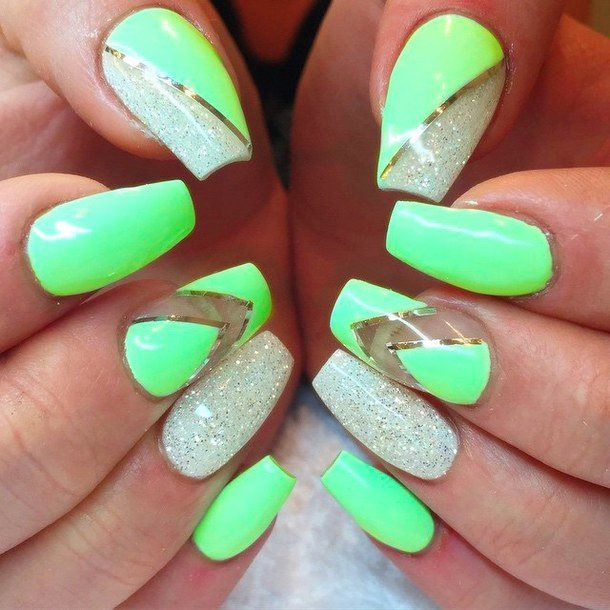 cute green nails for women 2015 - Styles 7