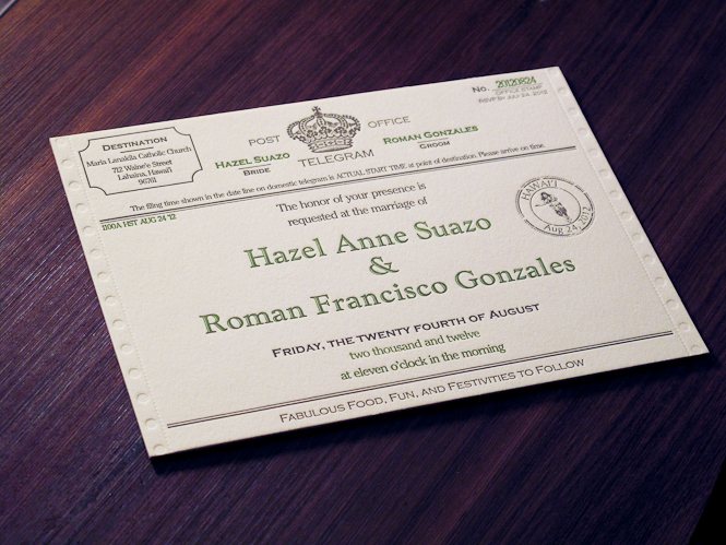 Hawaii Invitation Archives - Custom Letterpress Wedding Invitations