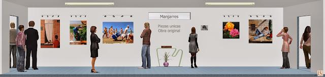 Sala de exposición virtual de pinturas de Manjarrés