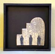 Recorte - 20x20x5 cm- Cerâmica em moldura