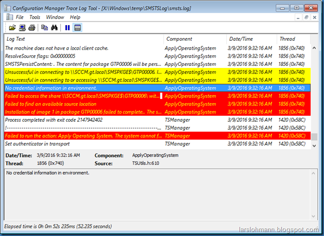 MINDCORE BLOG: Task Sequence error code (0x80070002)