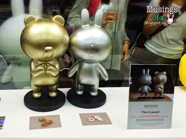 Golden Brown and Silver Cony Statues