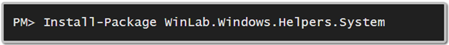 How to install 'WinLab.Windows.Helpers.System' library from NuGet (www.kunal-chowdhury.com)