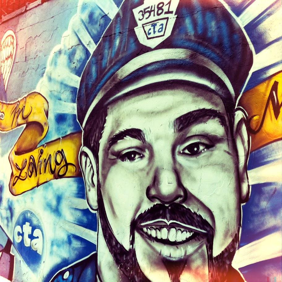 Mural, Fullerton & Milwaukee, photo by Kim Kovalick