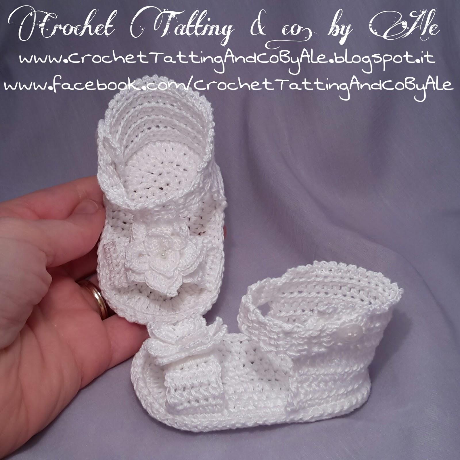 cerca l'autorizzazione in uso durevole presa di fabbrica Istruzioni Sandali a uncinetto per neonata