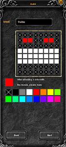 Создание гильии (шаг 2). Нарисуйте эмблему гильдии и придумайте название. Например, Murdrum