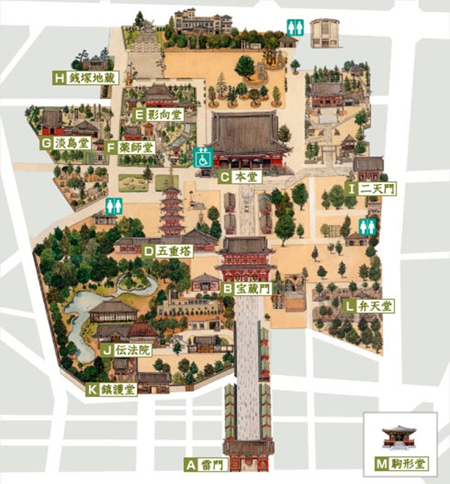 浅草寺平面图