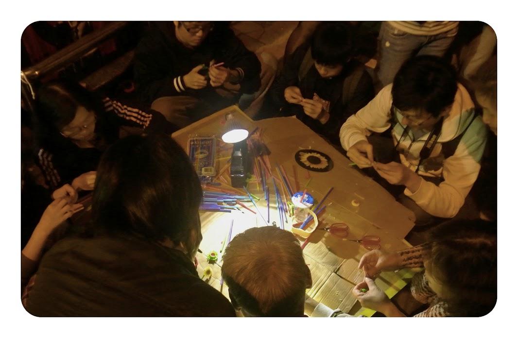 pintando en el congreso de Taipei