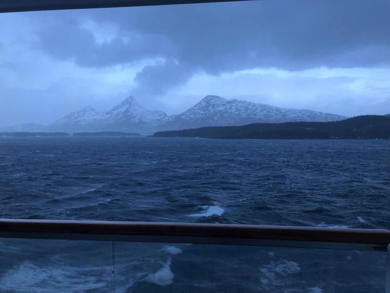 At sea off the coast of Norway on the Viking Sky(Source: Palmia Observatory)