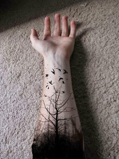tree tattoos for men on hands