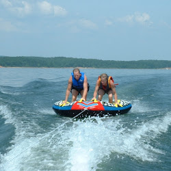Waterskiing on Greers Ferry Lake