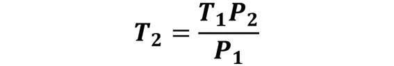 Las leyes de los gases: de boyle, de Charles, de Gay Lussac, de Avogadro y de Dalton - Despeje de la ley de Gay-Lussac cuando se desconoce T2 pero se conoce T1, P1 y P2 - sdce.es - sitio de consulta escolar