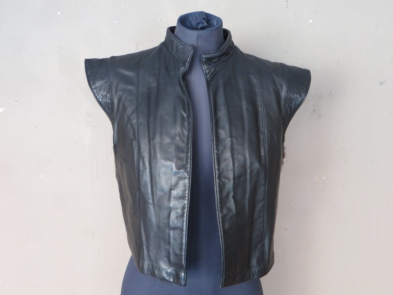 Reversible Mink and Leather Vest
