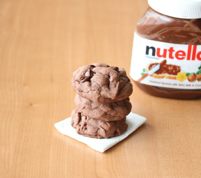 Soft Nutella Chocolate Cookies
