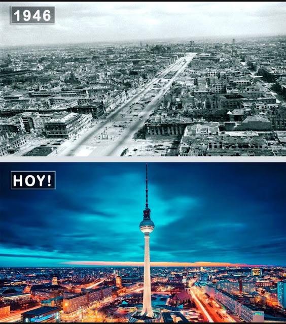підбірка 10 дивовижних міст до і після свого перетворення.