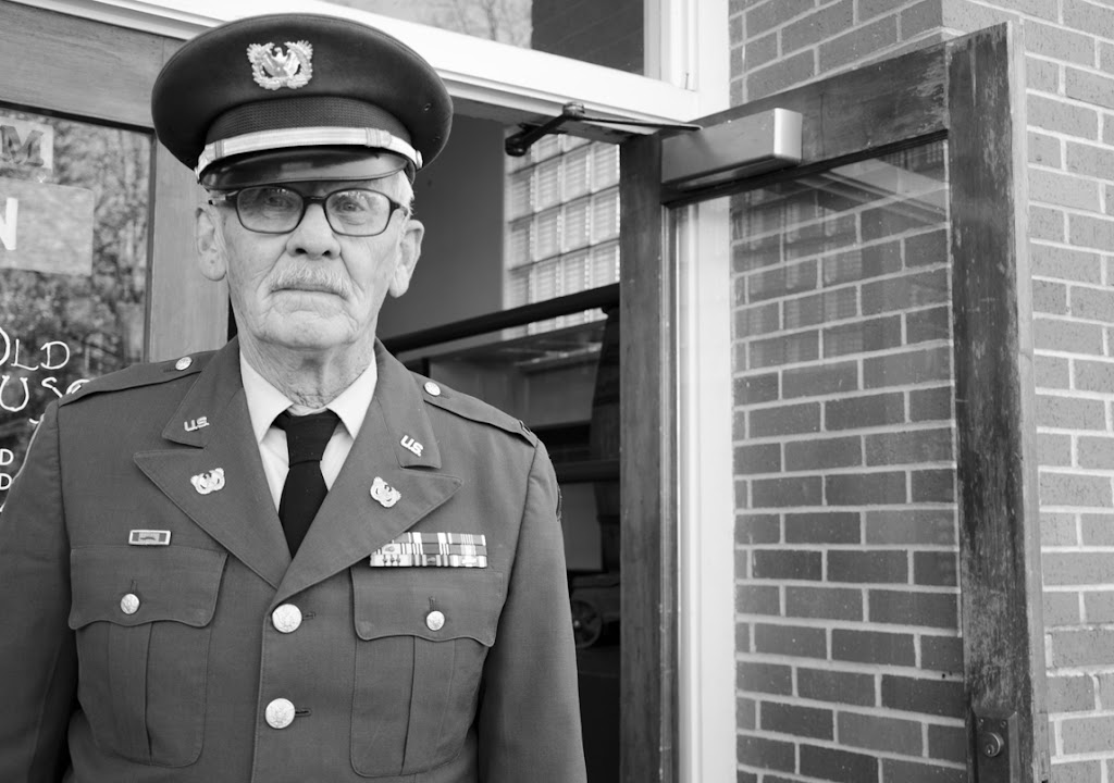 Retired Army Chief Warrant Officer 3, Stan Parr, stands outside the Ravalli County Museum in Hamilton. Parr says he's been coming to events like this in the Bitterroot Valley for the past 33 years. Photo by Brady Moore.