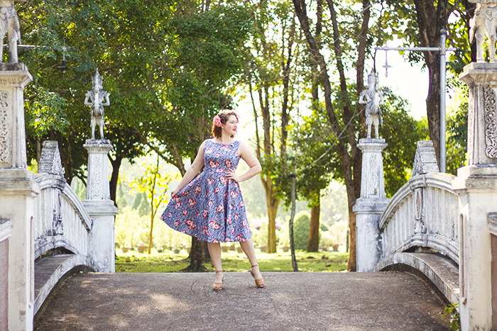 Retro dress and summer vintage style | Lavender & Twill
