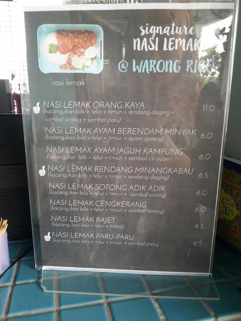 Makan Free Nasi Lemak di Warong Rico Bangi Sentral