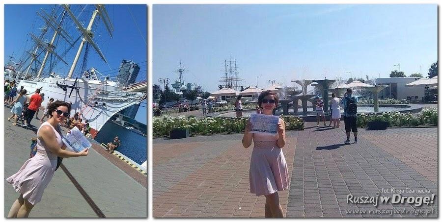 Kinga Czarnecka zwiedza Gdynię z mapką od Ruszaj w Drogę!