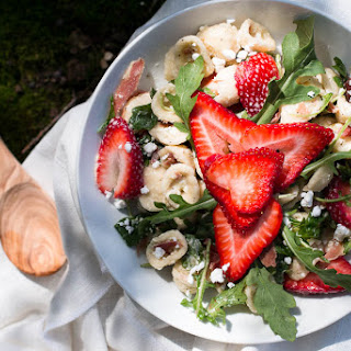 Orecchiette Pasta Salad with Feta, Arugula, Strawberries, and Prosciutto