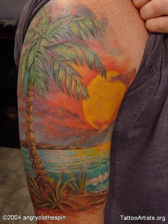 surreal_vista_para_a_praia_braço_de_tatuagem