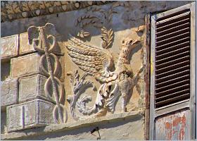 Sizilien, Palermo - Verzierung eines Palazzo im Altstadtviertel Kalsa