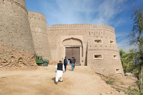 Main entrance gate of Derawar Fort, Cholistan