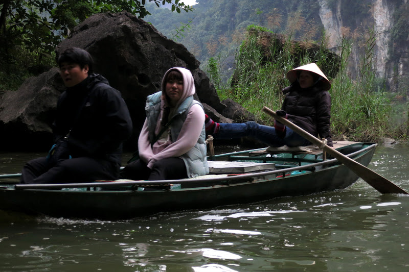 Other tourists being rowed by foot
