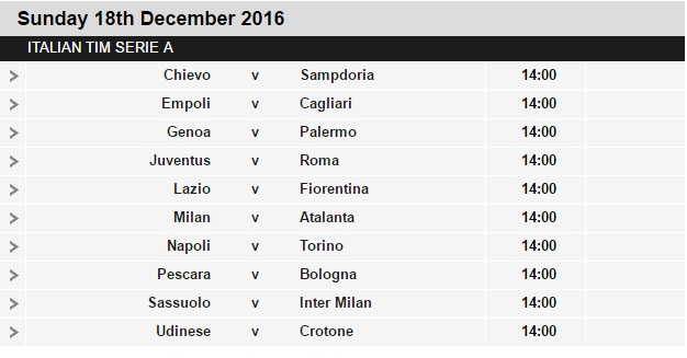 Serie%2BA%2Bschedule%2B17 Planning a Football Trip to Italy - SERIE A FIXTURES 2016/17