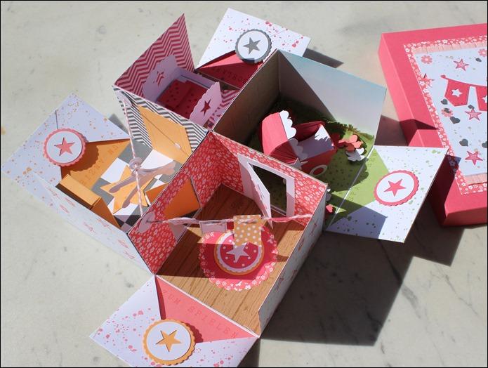 Baby Explosion Box vierfach Kinderzimmer Kinderwagen Garten Girl 02