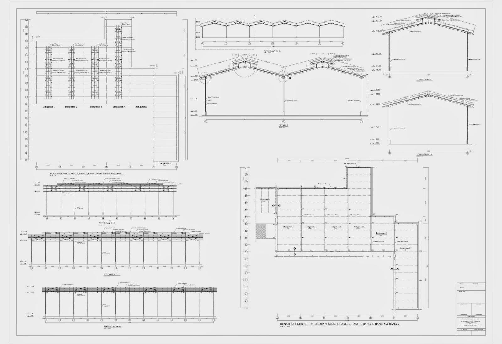 Bowie Workshop Dump Truck Blueprint Konstruksi Baja