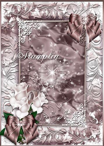 Рамка с розами  - Предчувствие любви души моей коснулось