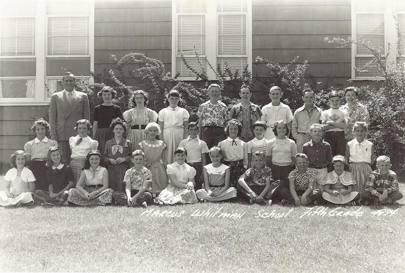 Marcus Whitman fifth grade 1954