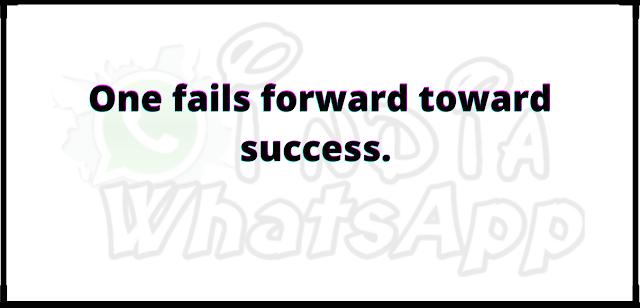 One fails forward toward success.