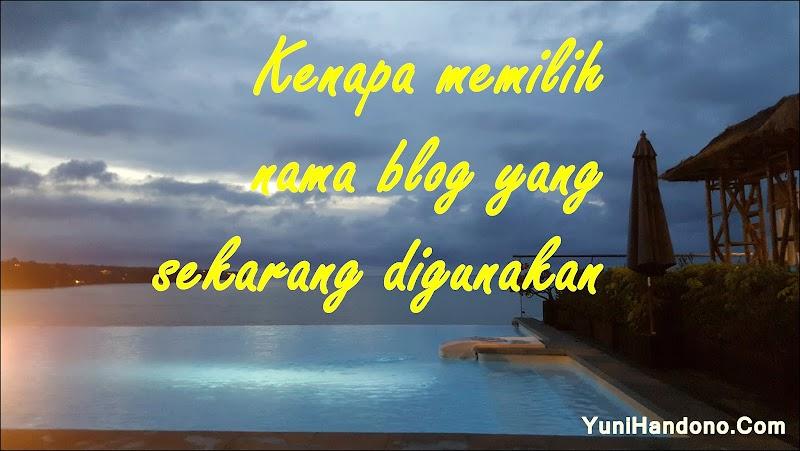 Cerita Di Balik Nama Blog YuniHandono.Com