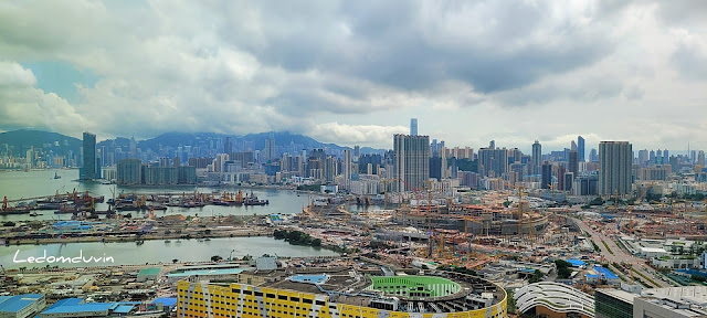 Kowloon Bay and Hong Kong in the far background view from my office window by ©LeDomduVin 2021