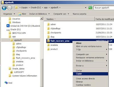 Copia de seguridad física fuera de línea en Oracle 11g