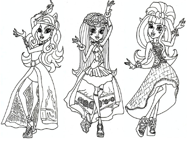 Monsterhigh Coloring Pages For Kidsprintablecoloring Pages