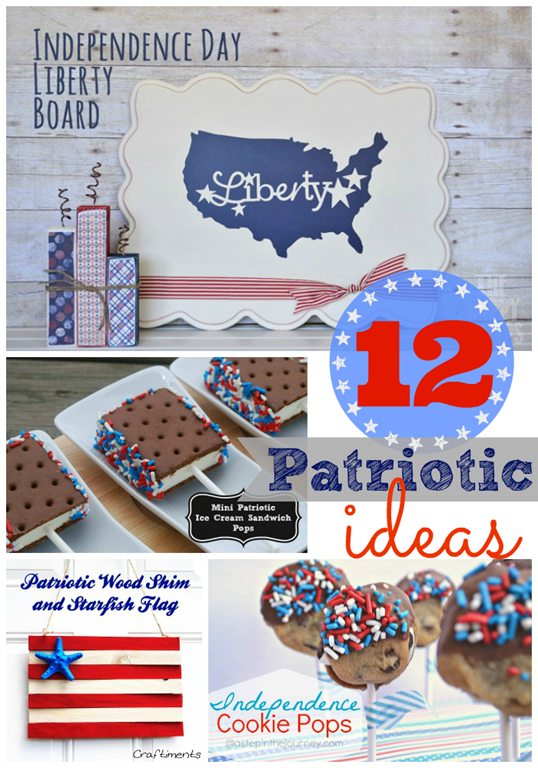 12 Patriotic Ideas - features at #gingersnapcrafts #linkparty #4thofJuly #patriotic_thumb[1]