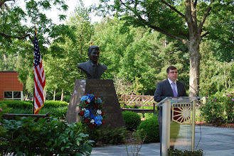 Photo: Dr. James Cooper, guest speaker at the Reagan Memorial 2013, Eureka College