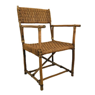 Rustic Wood and Jute Armchair