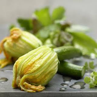 Steamed Zucchini Blossoms.